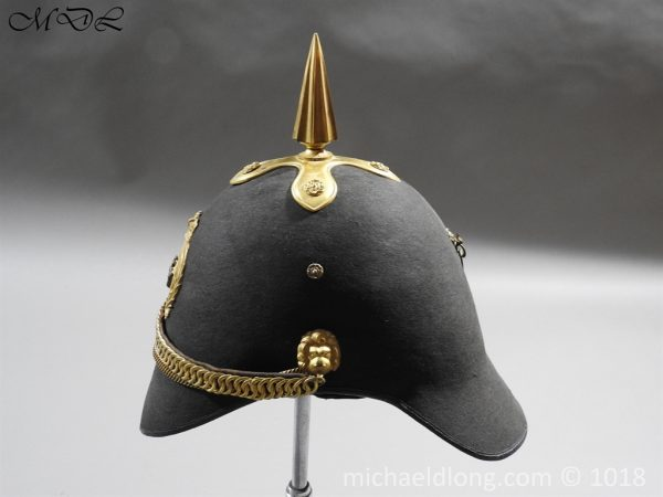 P56473 600x450 First Surrey Rifles Victorian Officer's regimental pattern Helmet c 1860