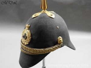P56474 300x225 First Surrey Rifles Victorian Officer's regimental pattern Helmet c 1860