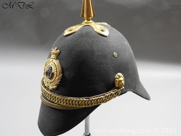 P56474 600x450 First Surrey Rifles Victorian Officer's regimental pattern Helmet c 1860