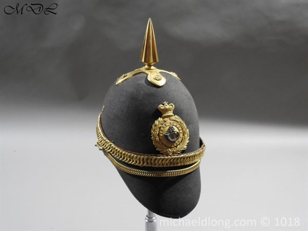 P56476 600x450 First Surrey Rifles Victorian Officer's regimental pattern Helmet c 1860