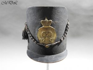 "P56960 300x225 British 1814 Belgic ""Waterloo"" Shako"
