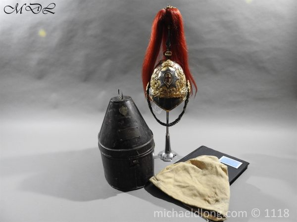 P57513 600x450 Royal Horse Guards Cased Officer's Helmet by Hawkes