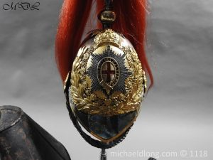 P57514 300x225 Royal Horse Guards Cased Officer's Helmet by Hawkes