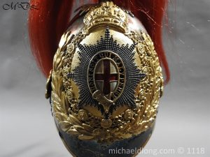 P57517 300x225 Royal Horse Guards Cased Officer's Helmet by Hawkes