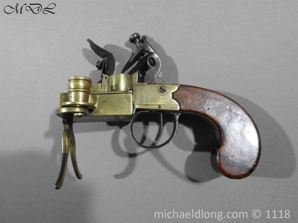 P57613 600x450 English Antique Flintlock Tinder Lighter by Bolton