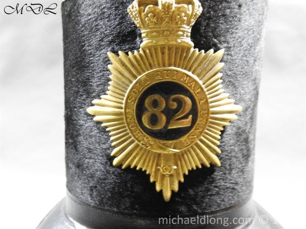 P57983 600x450 British 1855 Shako 82nd Regiment