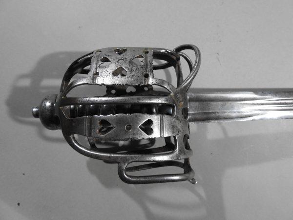 DSCN2458 600x450 Scottish Basket Hilted Broad Sword ANDRIA FARARA c 1760