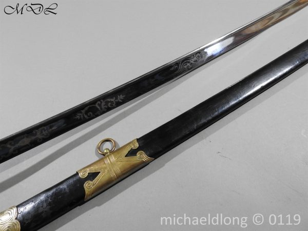 P60128 600x450 British 1822 Blue and Gilt Officer's Sword