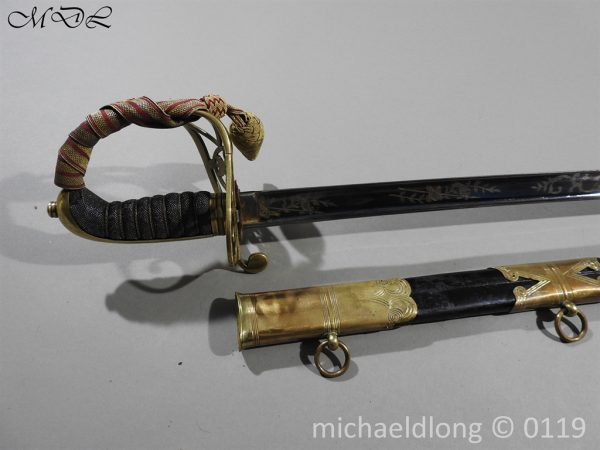 P60131 600x450 British 1822 Blue and Gilt Officer's Sword