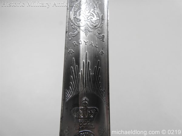 michaeldlong.com 122 600x450 Victorian Royal Artillery Patent Tang Officer's Sword