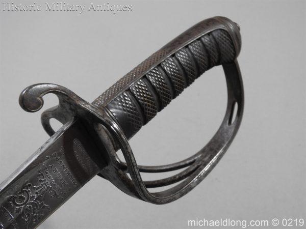 michaeldlong.com 126 600x450 Victorian Royal Artillery Patent Tang Officer's Sword