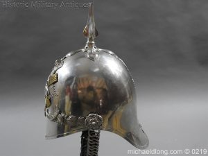 michaeldlong.com 303 300x225 Scottish Fife Light Horse 1871 pattern Officer's Helmet