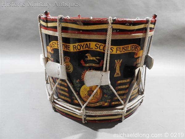 michaeldlong.com 337 600x450 Royal Scots Fusiliers Regimental Drum by Potters