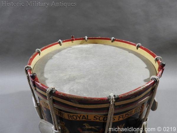 michaeldlong.com 338 600x450 Royal Scots Fusiliers Regimental Drum by Potters