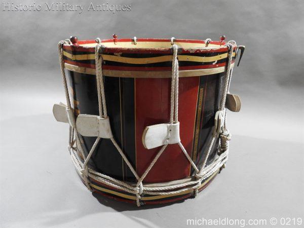 michaeldlong.com 339 600x450 Royal Scots Fusiliers Regimental Drum by Potters