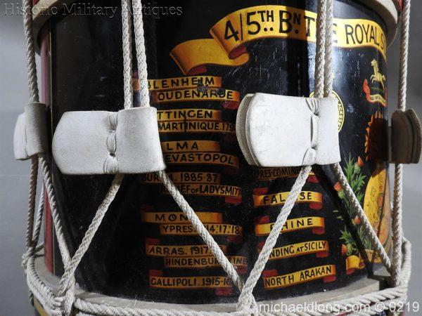 michaeldlong.com 342 600x450 Royal Scots Fusiliers Regimental Drum by Potters