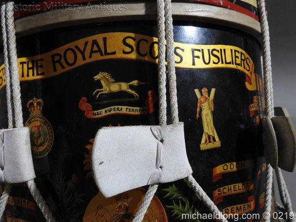 michaeldlong.com 344 600x450 Royal Scots Fusiliers Regimental Drum by Potters