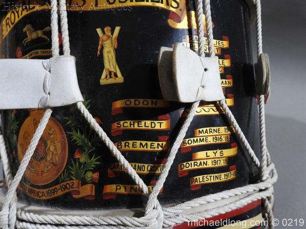 michaeldlong.com 345 600x450 Royal Scots Fusiliers Regimental Drum by Potters