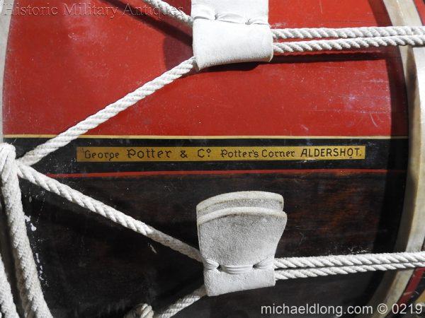 michaeldlong.com 346 600x450 Royal Scots Fusiliers Regimental Drum by Potters
