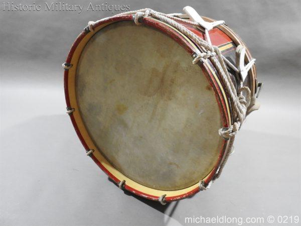 michaeldlong.com 347 600x450 Royal Scots Fusiliers Regimental Drum by Potters
