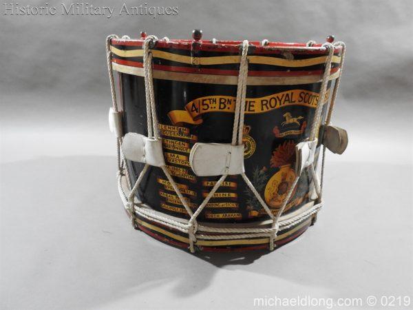 michaeldlong.com 348 600x450 Royal Scots Fusiliers Regimental Drum by Potters