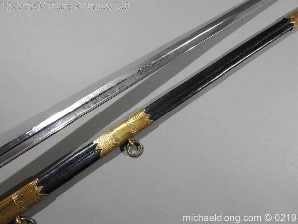 michaeldlong.com 65 600x450 Royal Naval WW1 Presentation Sword E Evans D S O