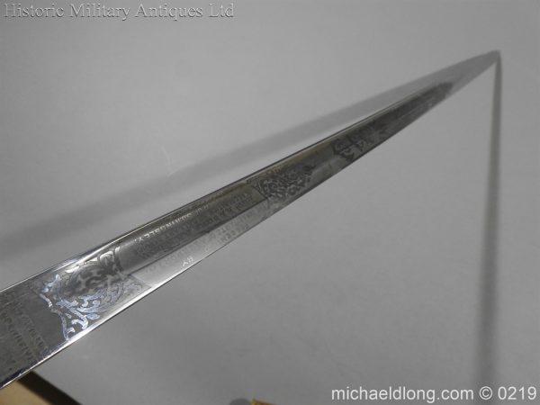 michaeldlong.com 69 600x450 Royal Naval WW1 Presentation Sword E Evans D S O