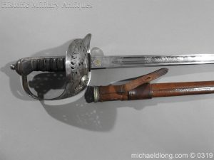 michaeldlong.com 459 300x225 Northumberland Fusiliers Victorian Officer's Sword