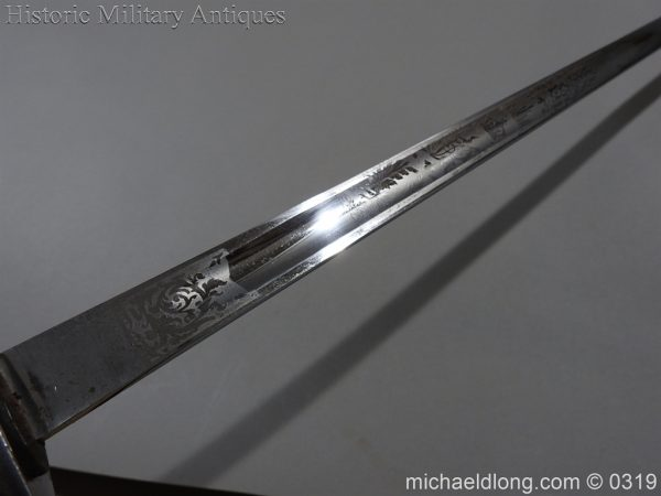 michaeldlong.com 476 600x450 Northumberland Fusiliers Victorian Officer's Sword