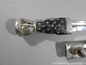 michaeldlong.com 721 300x225 Gordon Highlander Officer's Silver Mounted Dirk