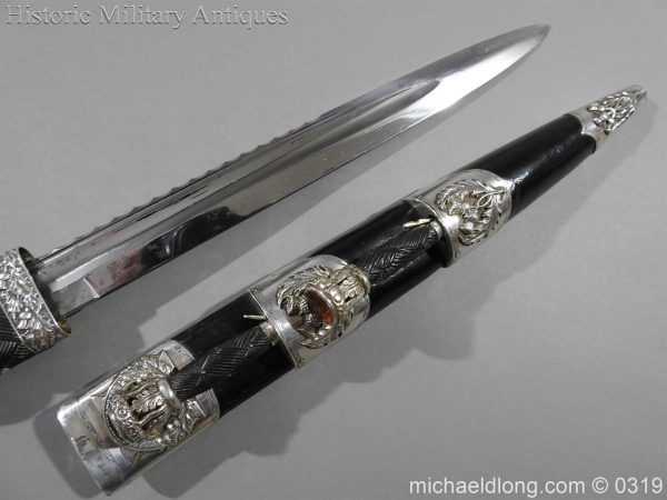 michaeldlong.com 722 600x450 Gordon Highlander Officer's Silver Mounted Dirk