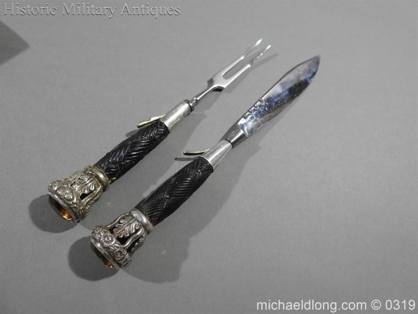 michaeldlong.com 724 600x450 Gordon Highlander Officer's Silver Mounted Dirk