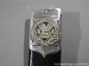 michaeldlong.com 727 300x225 Gordon Highlander Officer's Silver Mounted Dirk