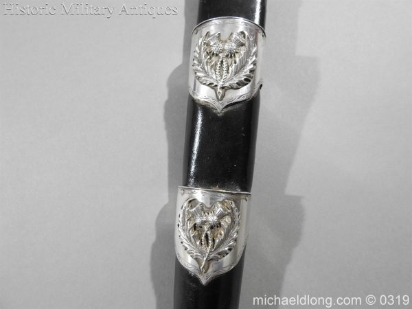 michaeldlong.com 728 600x450 Gordon Highlander Officer's Silver Mounted Dirk