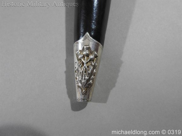 michaeldlong.com 729 600x450 Gordon Highlander Officer's Silver Mounted Dirk
