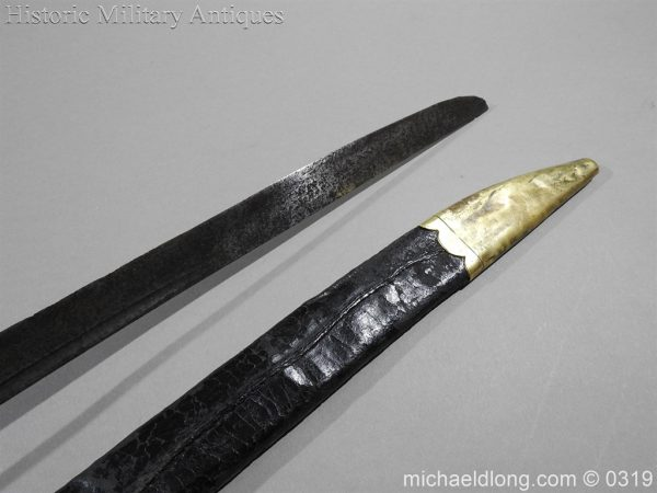 michaeldlong.com 949 600x450 British Naval Slot Hilt Officer's Sword C 1780