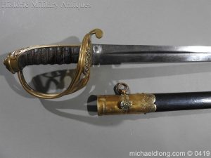 michaeldlong.com 1217 300x225 British 1845 Officer's Sword by Wilkinson with Gill Blade