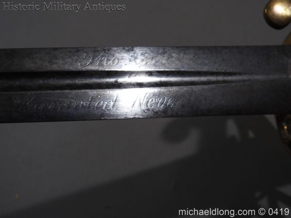 michaeldlong.com 1231 600x450 British 1845 Officer's Sword by Wilkinson with Gill Blade