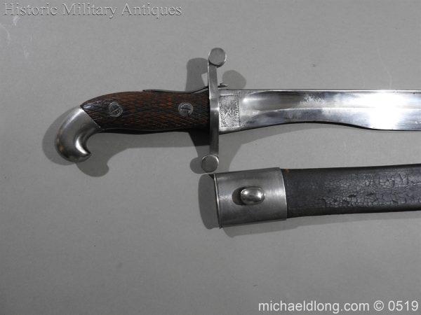 michaeldlong.com 1346 600x450 Spanish Model 1907 Artillery Bolo Bayonet B100