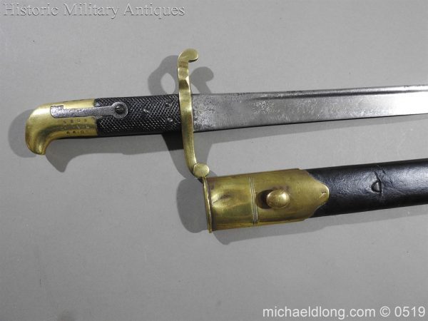 michaeldlong.com 1360 600x450 British 1855 Sapper and Miners Lancaster Sword Bayonet B102