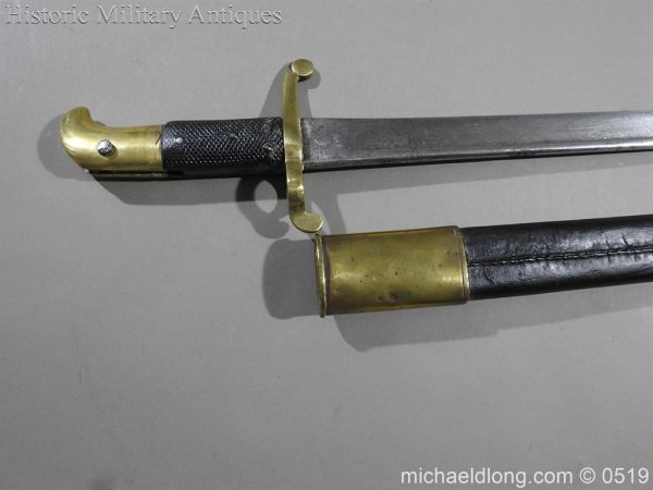 michaeldlong.com 1364 600x450 British 1855 Sapper and Miners Lancaster Sword Bayonet B102