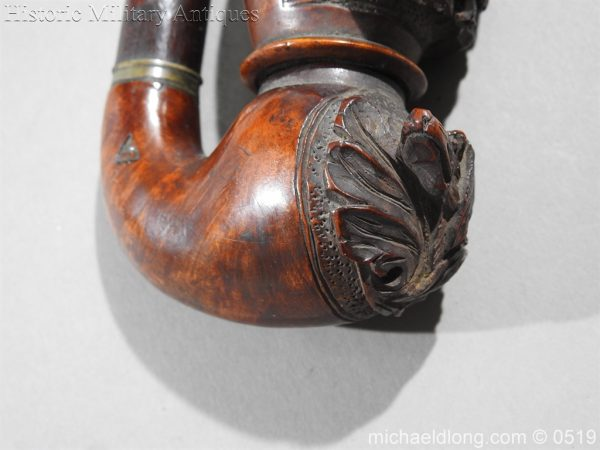 michaeldlong.com 1420 600x450 Black Forest Curved Hunting Scene Pipe c 1900