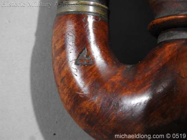 michaeldlong.com 1424 600x450 Black Forest Curved Hunting Scene Pipe c 1900