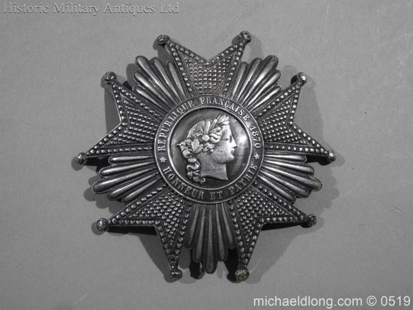 michaeldlong.com 1703 600x450 French Silver Order of the Legion of Honour Grand Cross Breast Star