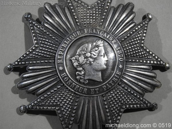 michaeldlong.com 1704 600x450 French Silver Order of the Legion of Honour Grand Cross Breast Star