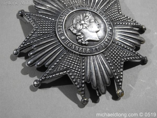 michaeldlong.com 1705 600x450 French Silver Order of the Legion of Honour Grand Cross Breast Star