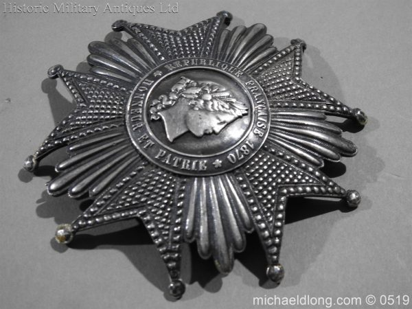 michaeldlong.com 1706 600x450 French Silver Order of the Legion of Honour Grand Cross Breast Star
