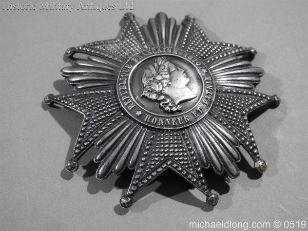 michaeldlong.com 1710 600x450 French Silver Order of the Legion of Honour Grand Cross Breast Star