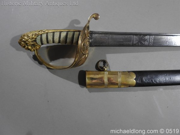 michaeldlong.com 1745 600x450 Royal Naval Officer's Pipe Back Sword By Dudley