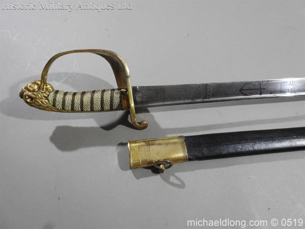 michaeldlong.com 1749 600x450 Royal Naval Officer's Pipe Back Sword By Dudley